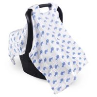 Hudson Baby® Muslin Car Seat Canopy in Blue Whale