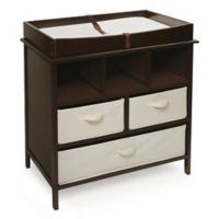 Badger Basket Estate Baby Changing Table with Cubbies and 3 Baskets