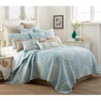 Levtex Home Icaria Reversible Full/Queen Quilt Set in Blue/Beige
