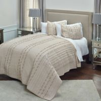 Rizzy Home Piper King Quilt in Light Brown
