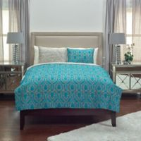 Rizzy Home Trellis Reversible Queen Quilt in Blue