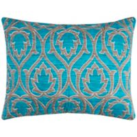 Rizzy Home Trellis Standard Pillow Sham in Blue