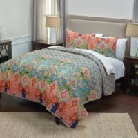 Rizzy Home Rhapsodille King Quilt in Blue