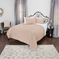 Rizzy Home Vivian Queen Quilt in Taupe