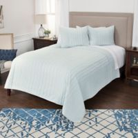 Rizzy Home Ventrice Queen Quilt in White