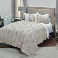 Rizzy Home Alice Twin XL Quilt in Light Brown
