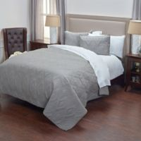 Rizzy Home Tapper Queen Quilt in Grey
