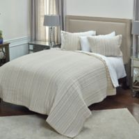 Rizzy Home Patrick King Quilt in Ivory