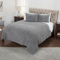 Rizzy Home Anthony King Quilt in Grey