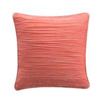 Tracy Porter® Josie Crinkle Velvet Throw Pillow in Coral