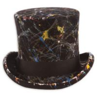 Scala™ Men's X-Large Painted Wool Felt Top Hat in Black