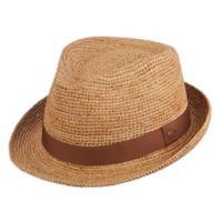Scala™ Large/X-Large Raffia Fedora Hat in Tea