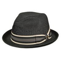 Scala™ Small Braided Vent Crown Fedora in Black