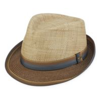 Scala™ Large Matte Raffia Fedora in Brown