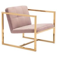 Zuo® Alain Arm Chair in Pink