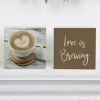 Love is Brewing Shelf Blocks (Set of 2)