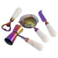 Cambridge Silversmiths™ 5-Piece Bar Tool Set in Rainbow/White Marble