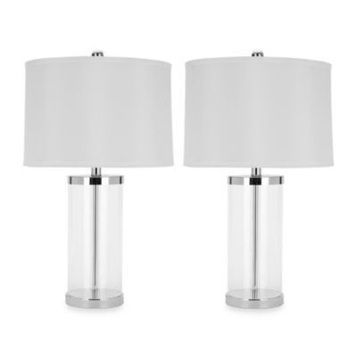 Buy clear glass table lamps from bed bath beyond jeanie glass base lamp set of 2 aloadofball Gallery
