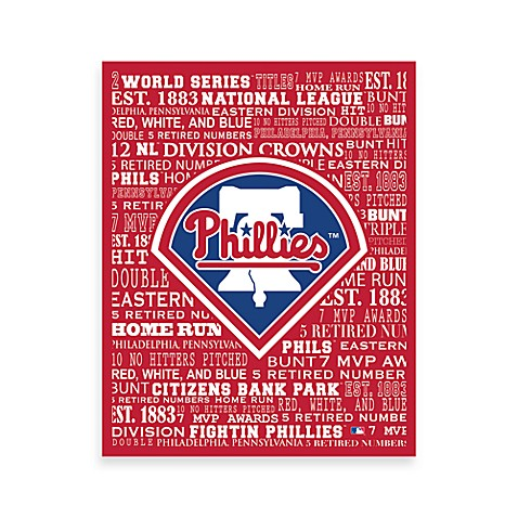 Philadelphia Phillies Typography Canvas Art