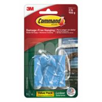 3M Command™ Clear Medium Outdoor Window Hooks (Set of 5)