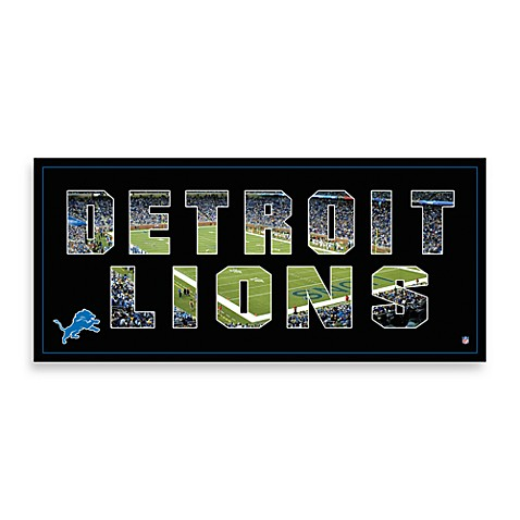 Detroit Lions Canvas Art Team Pride
