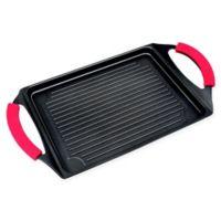 MasterPan 17-Inch Burner Grill Pan in Black