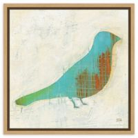 Amanti Art Flight Patterns Bird I 16-Inch Square Framed Canvas Wall Art
