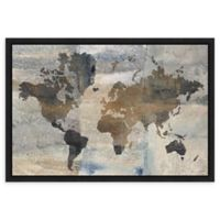 Amanti Art® Avery Tillmon Maps 23.25-Inch x 16-Inch Framed Canvas in Black