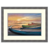 Amanti Art® Celebrate Life Gallery Boats 29.25-Inch x 22.25-Inch Acrylic Framed Print in Blue