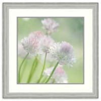 Amanti Art® Judy Stalus Flowers 29-Inch Square Acrylic Framed Print in Silver
