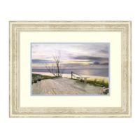 Amanti Art® Sunset & Flowers 28.25-Inch x 22.25-Inch Acrylic Framed Print