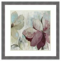 Amanti Art® Asia Jensen Flowers 26.25-Inch Square Acrylic Framed Print in Blue