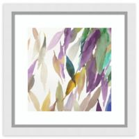 Amanti Art® Tom Reeves Abstract Leaf Watercolor 28-Inch Square Acrylic Framed Print in White