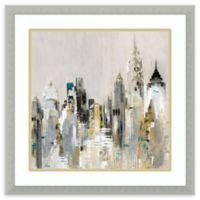 Amanti Art® Valeria Mravyan Cityscape 20.5-Inch Square Acrylic Framed Print in Silver