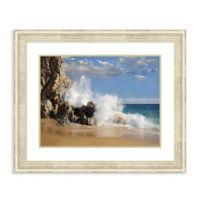 Amanti Art® Tim Fitzharris Beaches 34.25-Inch x 28.38-Inch Acrylic Framed Print in White