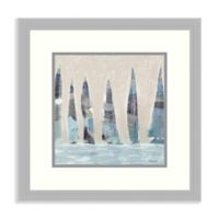 Amanti Art® Meneely Boats 19.75-Inch Square Acrylic Framed Print in Silver