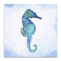 Tava Studios Sea Horse 18-Inch Square Wrapped Canvas