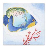 Tava Studios Fish 18-Inch Square Wrapped Canvas
