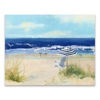 Sally Swatland Beach 28-Inch x 22-Inch Wrapped Canvas