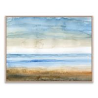 Seaside 24.88-Inch x 18.88-Inch Framed Canvas