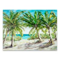 Julie Derice Palm Trees 24-Inch x 18-Inch Wrapped Canvas
