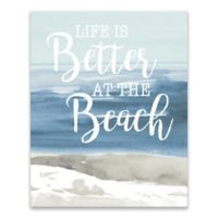 Lanie Loreth Beach Typography 16-Inch x 20-Inch Wrapped Canvas