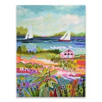 Karen Fields Sailboats 18-Inch x 24-Inch Wrapped Canvas