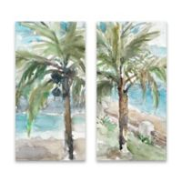 Lanie Loreth Palm Trees 15-Inch x 30-Inch Wrapped Canvas Set of 2