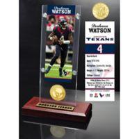 NFL Houston Texans Deshaun Watson Ticket & Bronze Coin Acrylic