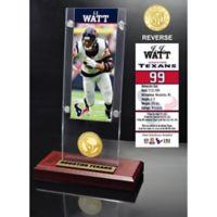 NFL Houston Texans J.J. Watt Ticket & Bronze Coin Acrylic