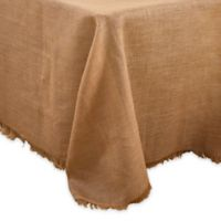Saro Lifestyle Mari Sati 90-Inch x 132-Inch Oblong Fringed Tablecloth in Natural
