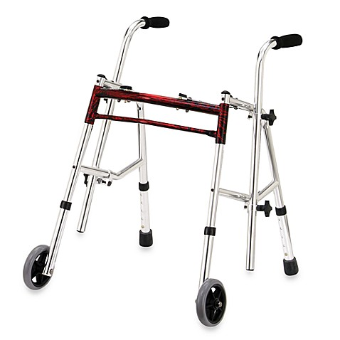Drive Medical Wenzelite Junior Glider Walker in Flame Red