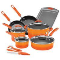 Rachael Ray™ Classic Brights Nonstick Hard Enamel 14-Piece Cookware Set in Orange