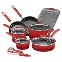 Rachael Ray™ Classic Brights Nonstick Hard Enamel 14-Piece Cookware Set in Red